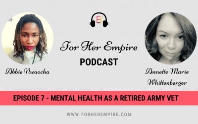 Mental Health as a Retired Army Vet